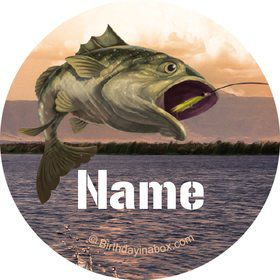 Bait 'n Hook Personalized Mini Stickers (Sheet of 24)