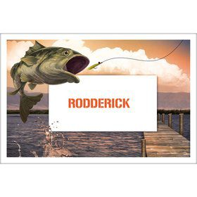 Bait 'N Hook Personalized Placemat (Each)