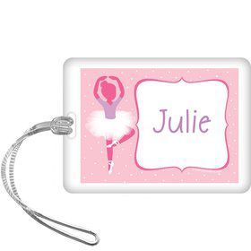 Ballet Personalized Bag Tag (each)
