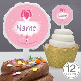 Ballerina Personalized Cupcake Picks (12 Count)
