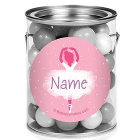 Ballerina Personalized Mini Paint Cans (12 Count)