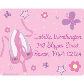 Ballet Personalized Address Labels (sheet of 15)