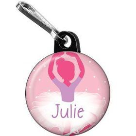 Ballet Personalized Mini Zipper Pull (each)