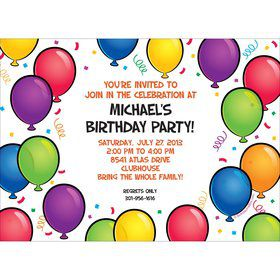 Balloon Fun Invitation (Each)
