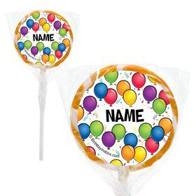 "Balloon Fun Personalized 2"" Lollipops (20 Pack)"