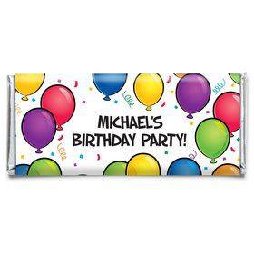 Balloon Fun Personalized Candy Bar Wrapper (Each)