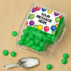 Balloon Fun Personalized Candy Bin with Candy Scoop (10 Count)