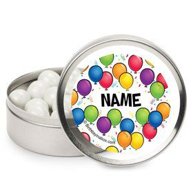 Balloon Fun Personalized Candy Tins (12 Pack)