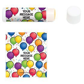 Balloon Fun Personalized Lip Balm (12 Pack)