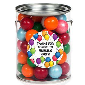 Balloon Fun Personalized Paint Can Favor Container (6 Pack)