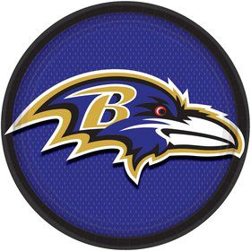 Baltimore Ravens Lunch Plates (8)