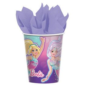 Barbie Mermaid 9oz Cups (8)