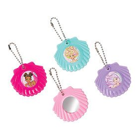 Barbie Mermaid Shell Mirror Keychains (8)