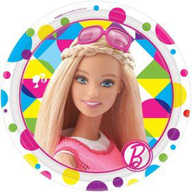 "Barbie Sparkle 7 "" Cake Plates (8 Pack)"