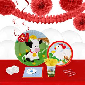 Barnyard 16 Guest Tableware Deco Kit