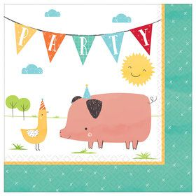 Barnyard Birthday Lunch Napkins (8)