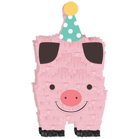 Barnyard Birthday Mini Pig Pinata Decoration