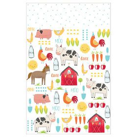 Barnyard Birthday Plastic Tablecover