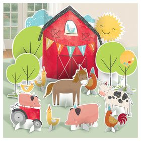 Barnyard Birthday Table Decoration Kit (11)
