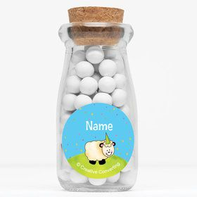 "Barnyard Personalized 4"" Glass Milk Jars (Set of 12)"