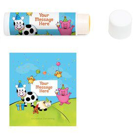 Barnyard Personalized Lip Balm (12 Pack)