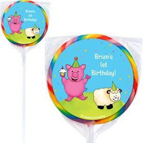 Barnyard Personalized Lollipops (pack of 12)