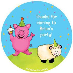 Barnyard Personalized Stickers (sheet of 12)