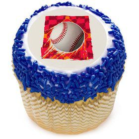 "Baseball 2"" Edible Cupcake Topper (12 Images)"