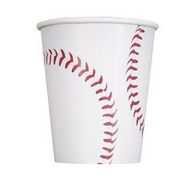 Baseball 9oz Paper Cups (8)