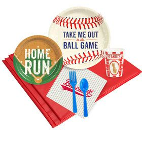 Baseball Party Deluxe Kit Serves 8 Guests