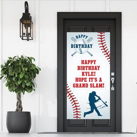 Baseball Party Personalized Banner 30 X 60 Inches (Each)