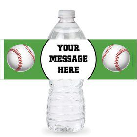 Baseball Party Personalized Bottle Labels (Sheet of 4)