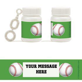 Baseball Party Personalized Bubbles (18 Pack)