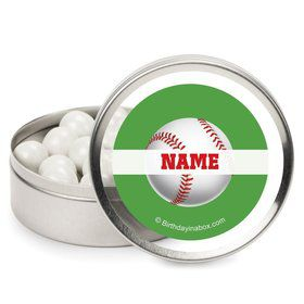 Baseball Party Personalized Candy Tins (12 Pack)