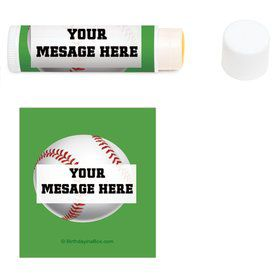 Baseball Party Personalized Lip Balm (12 Pack)