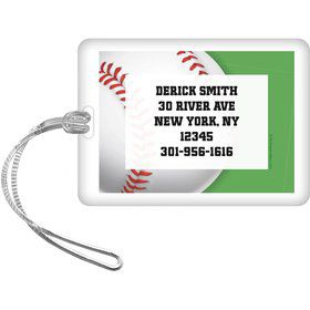 Baseball Party Personalized Luggage Tag (each)
