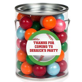 Baseball Party Personalized Paint Can Favor Container (6 Pack)