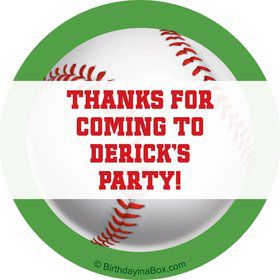 Baseball Party Personalized Sticker