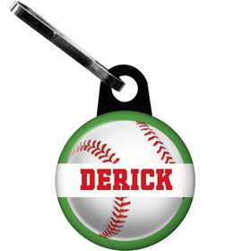 Baseball Party Personalized Zipper Pull (each)