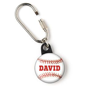 "Baseball Personalized 1"" Carabiner (Each)"