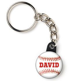 "Baseball Personalized 1"" Mini Key Chain (Each)"