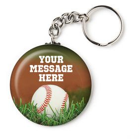 "Baseball Personalized 2.25"" Key Chain (Each)"