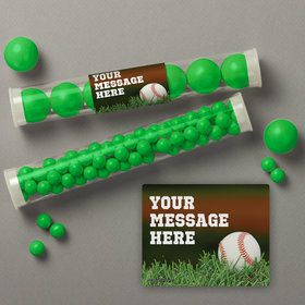 Baseball Personalized Candy Tubes (12 Count)
