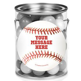Baseball Personalized Mini Paint Cans (12 Count)