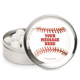 Baseball Personalized Mint Tins (12 Pack)