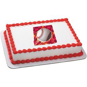 Baseball Quarter Sheet Edible Cake Topper (Each)