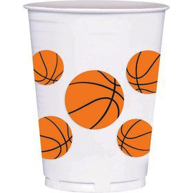 Basketball 14oz Cups (8 Count)