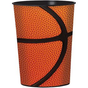 Basketball 16oz Plastic Favor Cup (Each)