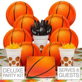 Basketball Party Deluxe Kit (Serves 8)
