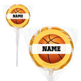 "Basketball Party Personalized 2"" Lollipops (20 Pack)"